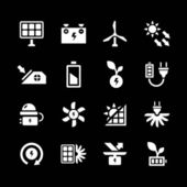 Set icons of alternative energy sources — Vettoriale Stock