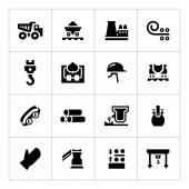 Set icons of metallurgy — Stock Vector