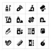 Set icons of hygiene — Stock Vector