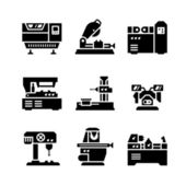 Set icons of machine tool — Stock Vector
