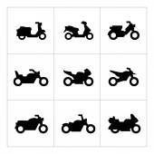 Set icons of motorcycles — Stock Vector