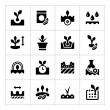 Set icons of seed and seedling — Stock Vector #71512899