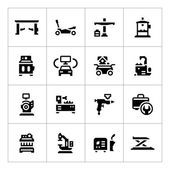 Set icons of car service equipment — Stock Vector