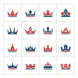 Set color icons of crown — Stock Vector #83112502