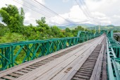 The Old  bridge in pai city,Mae hong son,Thailand — Stockfoto