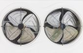 Twin cooling fan — Stock Photo