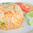 Salted egg fried rice with shrimp , Thai food — Stock Photo #57592773