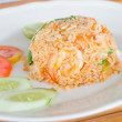 Salted egg fried rice with shrimp , Thai food — Stock Photo #57734323