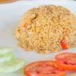 Chilli fried rice with pork and salted egg , Thai food — Stock Photo #59376979