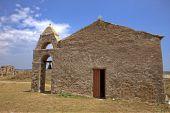 Medieval church inside the Methoni, Greece — Foto de Stock