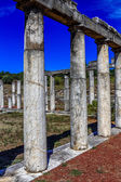 Ruins in ancient city of Messini,  hdr photo — Stock Photo