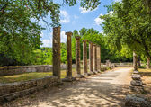 Ruins in Ancient Olympia, Peloponnes, Greece — Stock Photo