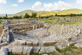 Ruins of theater in Ancient Messinia, Peloponnes, Greece — Stock Photo