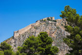 Palamidi fortress on the hill, Nafplion — Stock Photo