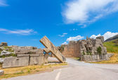Ruins of Arcadian gete in Ancient Messina — Stock Photo