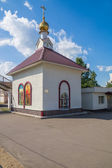 Russia. Murom. Railway station chapel of St. Nicholas — Stock Photo