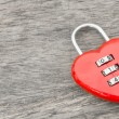 Red key heart shape — Foto Stock #60502623