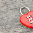 Red key heart shape — Stockfoto #60502623