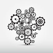 Vector Cogs - Gears Illustration — Stock Vector