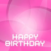 Vector Pink Happy Birthday Card — Stockvector