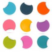 Colorful Paper Empty Stickers - Labels Set — Stock Vector