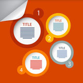 Orange Circle Vector Paper Infographics Layout - Template — Stock Vector