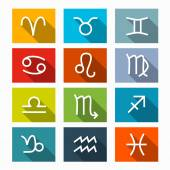 Zodiac - Horoscope Square Vector Icons Set — Stock Vector