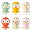 Vector Owls Set Illustration Isolated on White Background  — Stock Vector #57639839