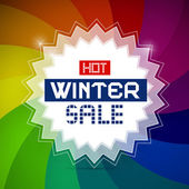 Hot Winter Sale Vector Retro Illustration — Stockvector