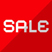 Sale Vector Paper Title on Red Background — Cтоковый вектор