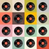 Vinyl Record Disc Template — Stock Vector