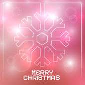Christmas Vector Snowflake on Blurred Background — Stockvektor