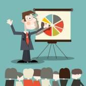 Business Man - Teacher Vector Illustration — Stock Vector