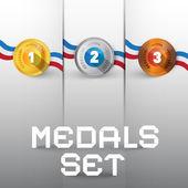Vector Medals Set — Stock Vector