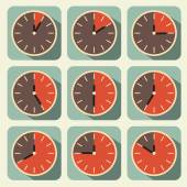 Clock - Time Countdown Vector Set — Stockvektor