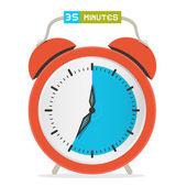 35 - Thirty Five Minutes Stop Watch - Alarm Clock Vector Illustration  — Stock Vector