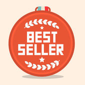 Best Seller Circle Retro Medal — Cтоковый вектор