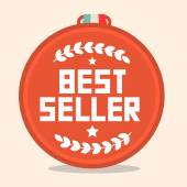 Best Seller Circle Retro Medal — Stock Vector