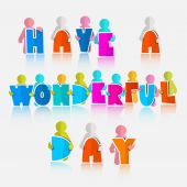 Have a Wonderful Day Slogan - Vector Illustration — Stockvektor