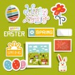 Vector Easter Symbols - Objects Set — Stock Vector #62098939