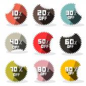 Vector Sale Retro Stickers - Labels — Stock Vector