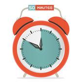 Femtio minuter Stop Watch - väckarklocka vektor Illustration — Stockvektor