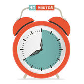 Forty Minutes Stop Watch - Alarm Clock Vector Illustration  — Stock Vector