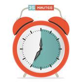 Thirty Five Minutes Stop Watch - Alarm Clock Vector Illustration  — Stock Vector