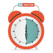 Thirty Minutes Stop Watch - Alarm Clock Vector Illustration  — Stockvector