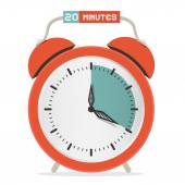 Twenty Minutes Stop Watch - Alarm Clock Vector Illustration  — Stock Vector