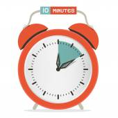 Ten Minutes Stop Watch - Alarm Clock Vector Illustration  — Stock Vector