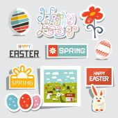 Vector Easter Isolated Symbols - Objects Set — Stock Vector