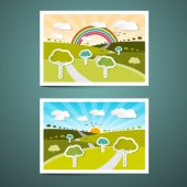 Landscapes Vector Illustrations — Stock Vector