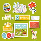 Vector Easter Symbols - Objects Set — Stock Vector